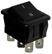 Interruptor conmutador de botón DPDT ON-ON 16A/250V 20A/28V, 2 posiciones, Negro