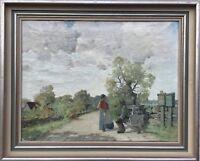 IMPRESSIONIST FOLKE SINCLAIR 1877 - 1956 PAUSE AN DER LANDSTRASSE - SCHWEDEN