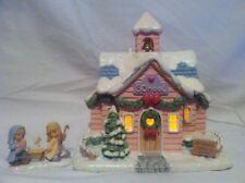 "Precious Moments Christmas Village ""Merry Memories School"" C.O.A. Lighted Bonus"