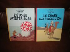 TINTIN - L'ETOILE MYSTERIEUSE + LE CRABE AUX PINCES D'OR - EDITIONS ANNEES 80