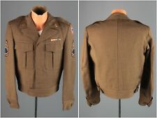 Vtg Men's 1948 Post Wwii Us Army Wool Ike Jacket sz S 36 R 1940s Uniform #4289