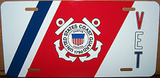 United States Coast Guard Veteran Aluminum License Plate - Made in USA
