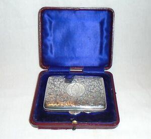 Antique Solid Silver Cigarette Case, Payton, Pepper & Sons Ltd, Birmingham 1908