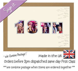 18th Birthday Signing Signature Guest Word / Number Photo Frame Photos in a Word