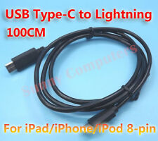 USB Type-C to Lightning Data Sync Power Supply Cable Cord For iPhone iPad iPod