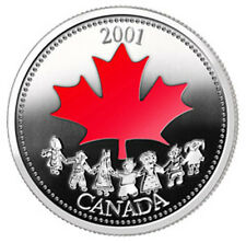 2001 Spirit of Canada Colorized 25 Cent Coin (10464)