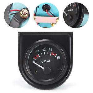52mm Voltmeter Voltage Voltanzeige Spannungsanzeige für Auto LED Light DC 12V