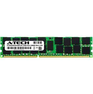 16GB DDR3 PC3-12800R RDIMM Crucial CT16G3ERSLD4160B Equivalent Server Memory RAM