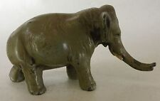 Antique Painted White Metal INDIA N ELEPHANT Figurine Walking Spelter