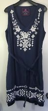 Johnny Was sleeveless LINEN DRESS Boho Chic Style, size 2X