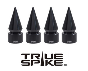 4 TRUE SPIKE BLACK SPIKED TPMS WHEEL AIR VALVE STEM COVER CAP FOR HYUNDAI