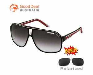 NEW Carrera Sunglasses Grand Prix 2 T4O9O Black Red UV Protect Sports Polarized