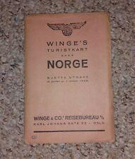 Vintage Map 1948 NORWAY NORGE   Winge's Turistkart