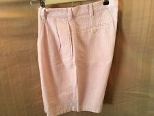 Joseph A Banks Men's Seersucker Shorts Pink and White Stripe W34