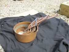 Antique Copper Sauce Pan Set Cooking Pots Iron Handles French Vintage Frying Old