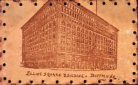 BUFFALO NY-ELLIOT SQUARE BUILDING-LEATHER POSTCARD 1900s