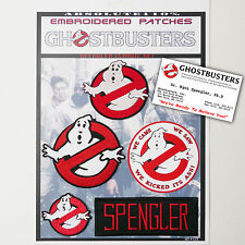 """GHOSTBUSTERS """"SPENGLER"""" Team Patches - Iron-On Patch Mega Set #023 - FREE POST"""