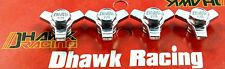 Aluminum Wheel Lock Offs Silver For Tamiya Super Cold Buster Cold Buster Dhawk