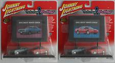 "Johnny Lightning Billboard - 1970 & 2002 Chevy Monte Carlo ""Yesterday & Today"""