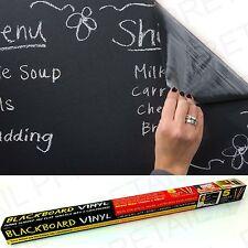Large VINYL CHALKBOARD +WIPE CLEAN+ Blackboard Wall/Office/Black Board EASY FIT