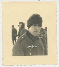 Foto Soldat mit Winter-Mütze 2.WK ( P696)