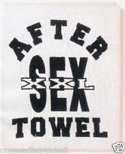 New After Sex Towel White 18 in. x 15 in. NIP Gag Gift