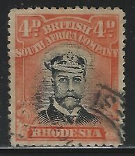 Rhodesia 1913 4d George V Admiral Sc# 125 used