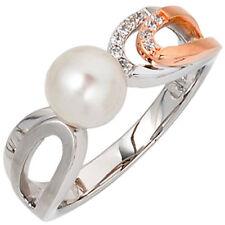 Ringe mit Perlen (18,4 mm Ø) unbehandelte natürliche 58