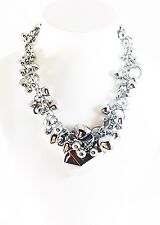 USA SELLER Fashion Necklace Unique Charming Fancy Vogue Chic Party Heart Silver