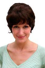 Perruque pour Femme Marron Brun Foncé Cheveux Courts Postiche Env. 20 cm 21753-6