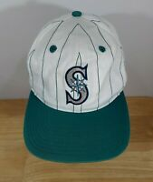 Vintage Seattle Mariners Pin Stripe Snap-Back Dad Style Ball Cap
