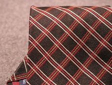 CLASSIC! POLO RALPH LAUREN BLACK RED GOLD PLAID DIAMOND NECK TIE MADE IN THE USA