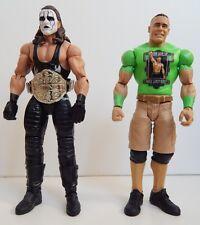 Sting with Belt & John Cena Never Give Up, Green Jersey - WWE Wrestler Figures