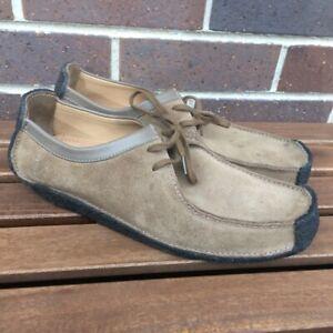 Clarks wallabees men's shoes Size uk 12g Casual Street Wear Wu Tang Brown Tan