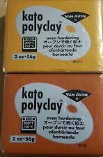 Lot of 2 Kato Polyclay brick of 56 grams / 2 ounces, kato polymer clay 2 oz.