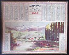 CALENDRIER ALMANACH des PTT de 1932 L ISERE ENVIRONS de GRENOBLE