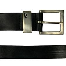 JAG Mens VINTAGE LEATHER BELT Black Size 75 cm 30 inches Made In Australia Y5