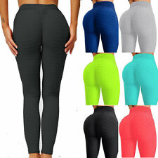 Womens Scrunch Yoga Pants Leggings Push Up Anti-Cellulite Sports Gym Workout Y27