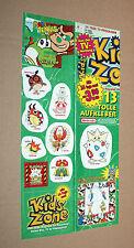 2001 Nintendo Go Sticker Set Game Boy Color Super Mario Donkey Kong Pokemon etc