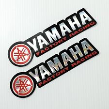 YAMAHA  RACING  DECALS IN RED  & SILVER  FOIL  DECALS  X 2.