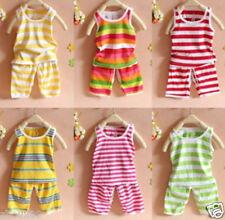 Random 2 Pcs 100% cotton baby kid girls boys Clothing tops+short pants outfits