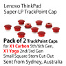 2x Lenovo ThinkPad X1 Carbon 5th 6th Trackpoint Pointing Mouse Stick Rubber Cap