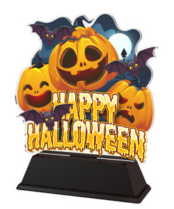 HALLOWEEN UNIQUE TROPHY GIFT AWARD ACRYLIC TROPHY *FREE ENGRAVING* 160mm *NEW*