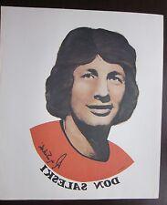 "Don Saleski Philadelphia Flyers Reverse Photo Poster Unique NHL 10.5"" x 13"""