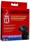 Dogit Soft Nylon Dog Muzzle Black XL/XX-Large 10 inch