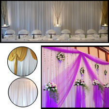White Glaçon Silk Backdrop Curtains Without Swag Wedding Party Event Photo