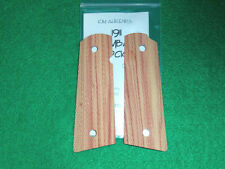 Grips - 1911, Full-Size, Tulipwood, Combat Checkered, Magwell, Kim Ahrends
