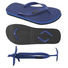 Boomerangz Men's Navy Thongs / Flip Flops with Navy Interchangeable Straps