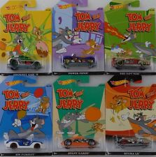 Tom and Jerry Set 6 pcs Assortment 1:64 Hot wheels USA DJY54