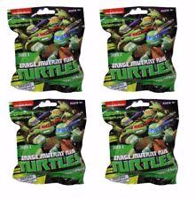 Lot of 4 Teenage Mutant Ninja Turtles- Keychain Figurines Series 1 Blind Pack